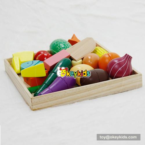 wholesale fashion children wooden cut fruit toy for sale W10B173