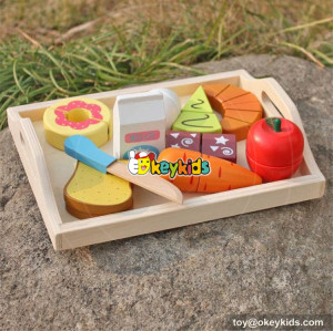 new design wooden kids play food W10B184
