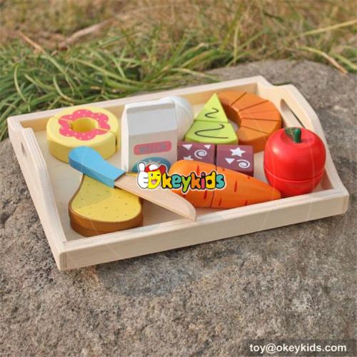 new design wooden kids play food W10B184