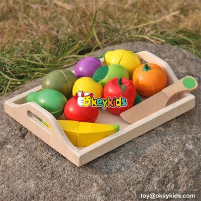 okeykids funny wooden cutting fruit set for children W10B185