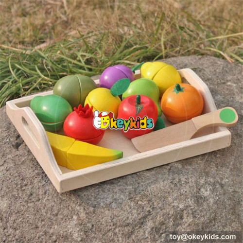 okeykids funny wooden cutting fruit set for children W10B185
