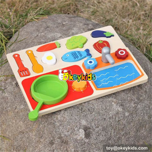 new design wooden cooking toys for kids W10B187