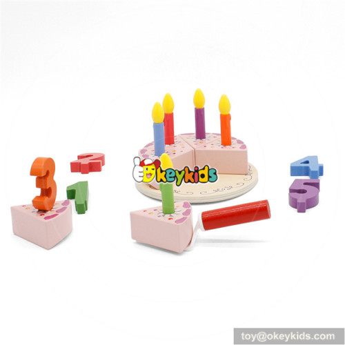 wooden birthday cake toy for baby W10B196