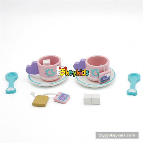 wooden cake and fruits food cutting toy for baby W10B198