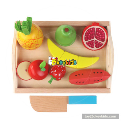 Delicate wooden cutting fruit toy benefits to baby's hand-eye coordination W10B199