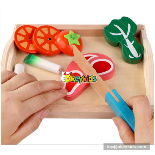 Wooden magnetic blocks cutting food toy for kids W10B201