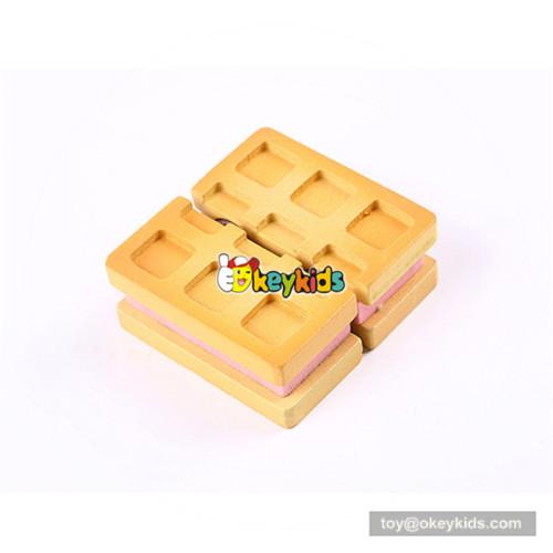 Wonderful wooden pretend afternoon tea set toy cutting dessert toy for baby W10B208