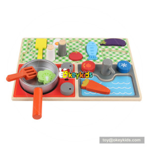 New arrival wooden pretend play toys for children cooking W10B210
