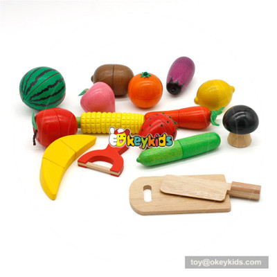 Wooden pretend food toy baby cutting toy W10B206