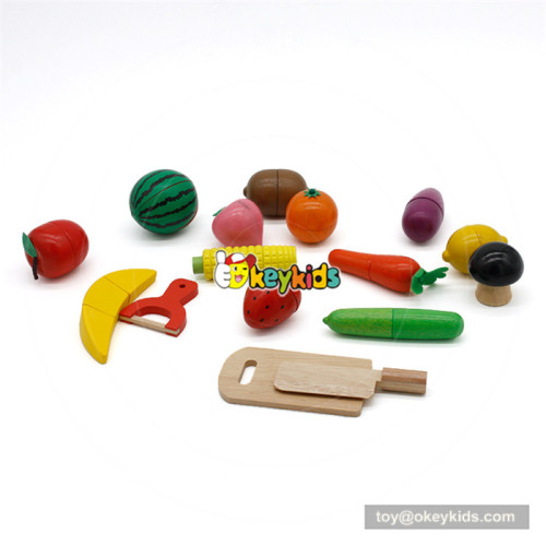 Wooden pretend food toy baby cutting toy W10B206