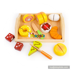Wooden cake cutting toy for tollders W10B211
