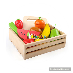 New arrival children wooden toy fruits and vegetables for pretend play W10B213