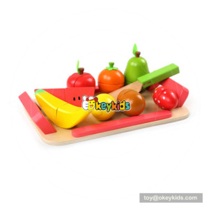 New arrival educational wooden kitchen toy fruit for girls W10B214