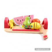 Funny wooden children toy fruit and veg for pretend play W10B215