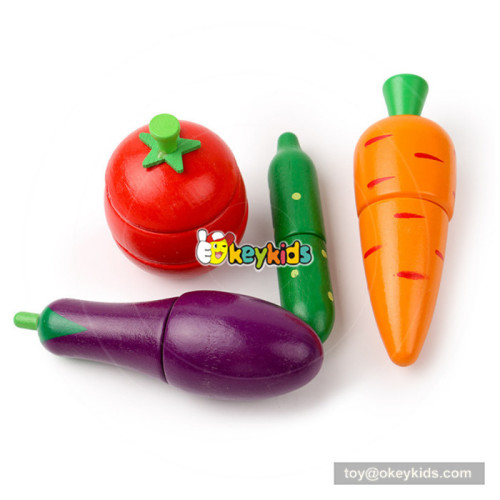 New hottest pretend play wooden cutting fruits and vegetables toys for kids W10B222