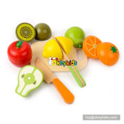 New hottest pretend play wood food cut set toy for children W10B223