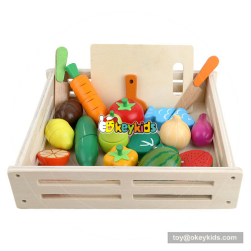 New arrival pretend cutting wooden toy fruit and veg for children W10B224