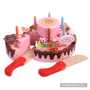 DIY wooden toy birthday cake for kids pretend play W10B229