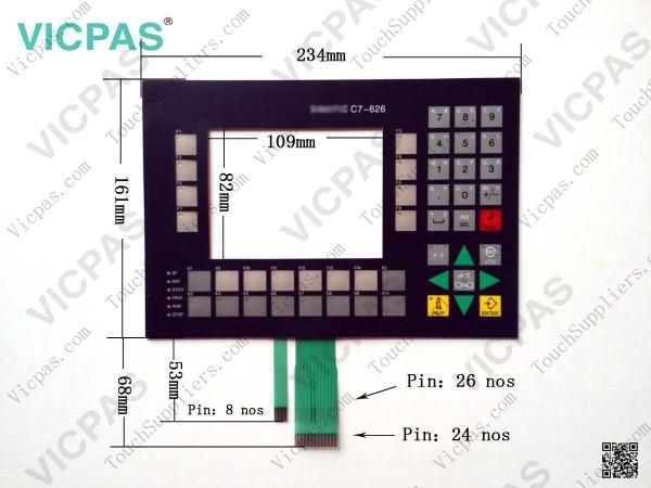 6ES7626-1AG01-0AE3 لوحة المفاتيح غشاء لوحة المفاتيح