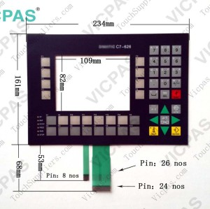 Membrane keypad keyboard for 6ES7626-2AG02-0AE3