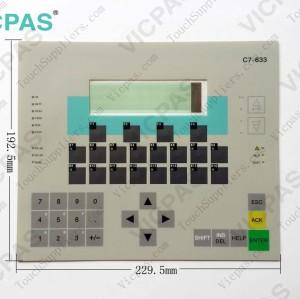 Membrane keyboard for 6ES7633-1DF02-0AE3 C7-633 membrane keypad switch