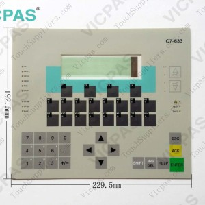 Membrane keypad keyboard for 6ES7633-2BJ01-0AE3
