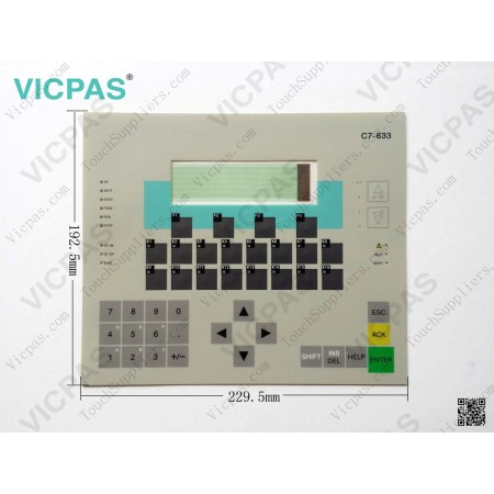 6ES7633-2DF00-0AE3 SIMATIC Siemens C7 633 Membrane Keypad