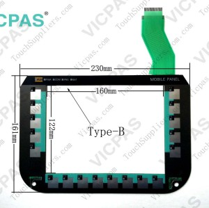 Membrane keyboard for 6AV6645-0BE02-0AX0 MOBILE PANEL 277 10