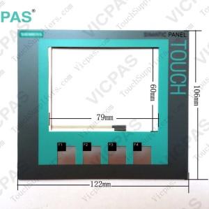 Membrane keyboard for 6AV2 124-2DC01-0AX0 HMI KTP400 membrane keypad switch