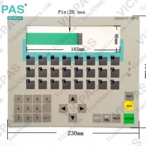 Membrane keyboard keypad for 6AV3617-5BB00-0AB0