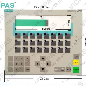 Membrane keyboard for 6AV3 617-1JC00-0AX2 OP17 PP membrane keypad switch