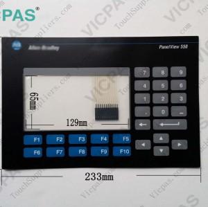 Membrane keyboard for 2711-K5A1 membrane keypad switch