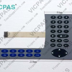 Membrane keyboard for 2711P-K6C1A membrane keypad switch