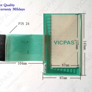 Touch screen panel and membrane keyboard keypad for 2711-B5A1L1