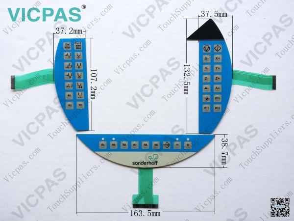غشاء لوحة المفاتيح ل 5 MP050.0653-03 التبديل لوحة المفاتيح غشاء
