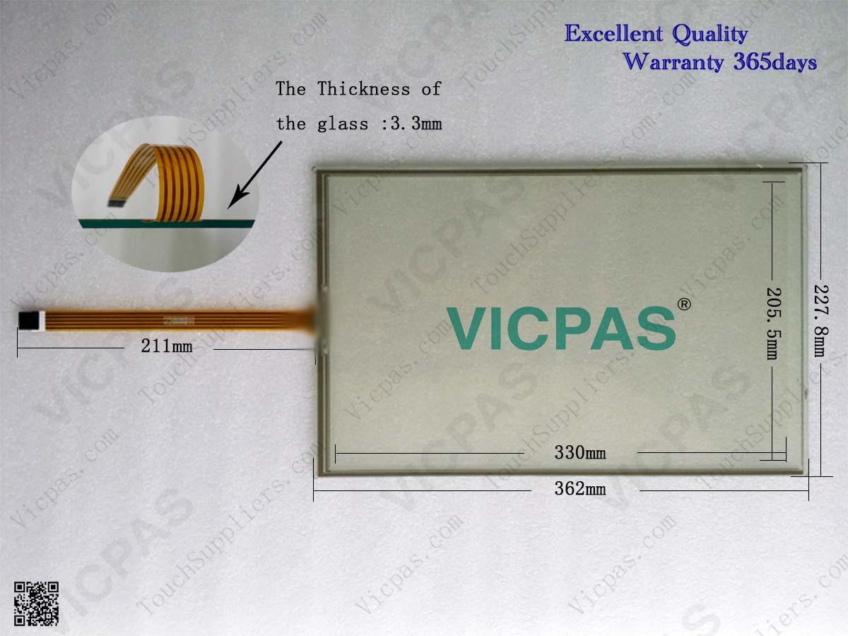 Touchscreen panel for 6AV7 881-4A.0.-...0 IPC277D 15 TOUCH