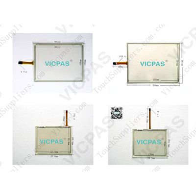 Touch screen panel for XVS-440-12MPI-1-10 139975 touch panel membrane touch sensor glass  replacement repair