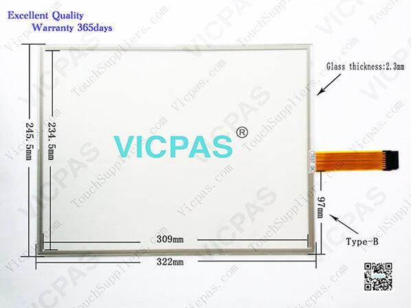 2711P-B15C10D2 touch screen glass