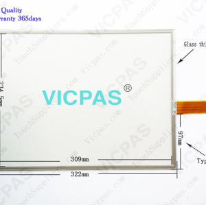 2711P-T15C4D1 Touch Screen Panel Repair