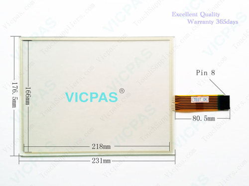 2711P-T10C10D6 Touch Screen Panel Glass Repair
