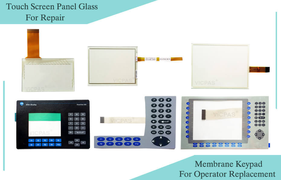 Allen Bradley Panelview Plus touch screen panel glass and operator panel keypad repair