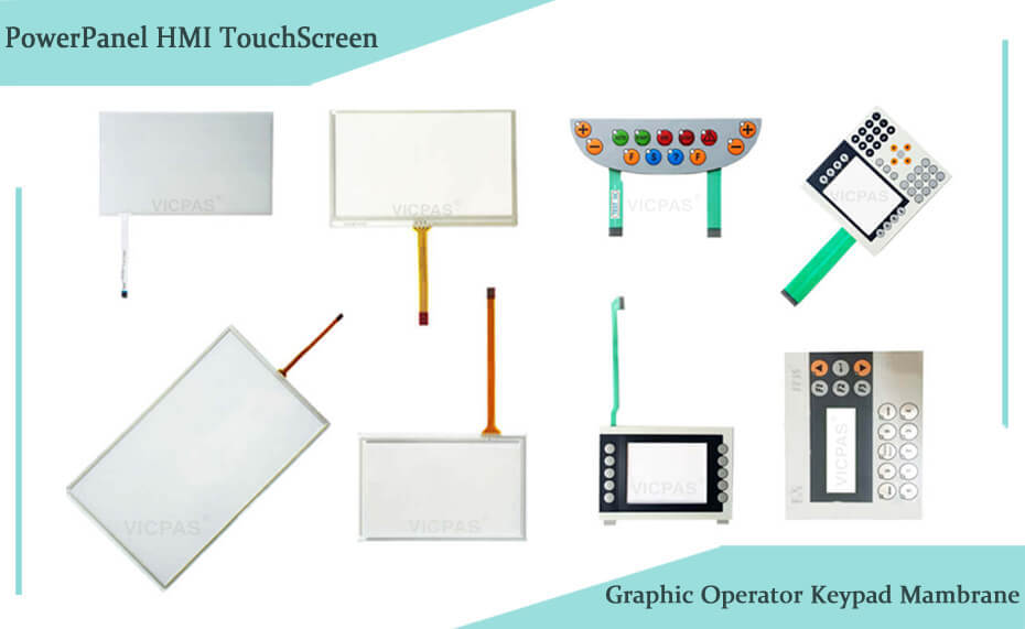Touchscreen panel for B&R PowerPanel HMI repair and Graphic operator keypad memmbrane replacement www.vicpas.com