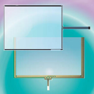 dmc resistive touch screen glass reapir for AST ATP series