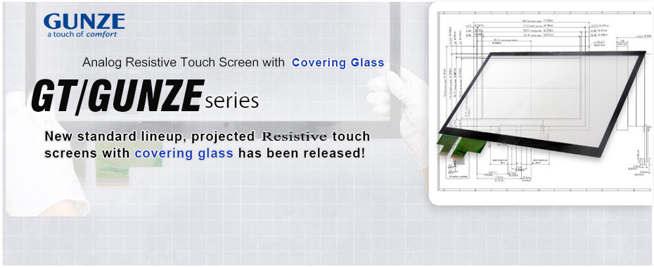 Gunze Resistive Touch Panels Screen Glass Repair banner -vicpas touchscreen