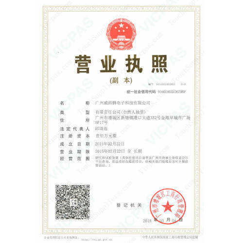 Corporate Business License of Vicpas