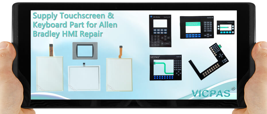 For Allen Bradley PowerView HMI touch screen glass & operator panel repair / replacement
