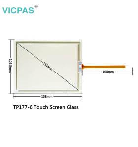 für Siemens Simatic TP177 A B Ersatz für Touchscreen-Glas und Schutzfolie