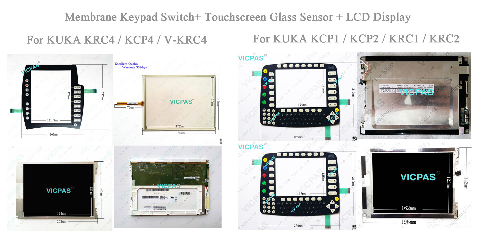 Reparación de cristal del panel de la pantalla táctil AMT28199 AMT-28199