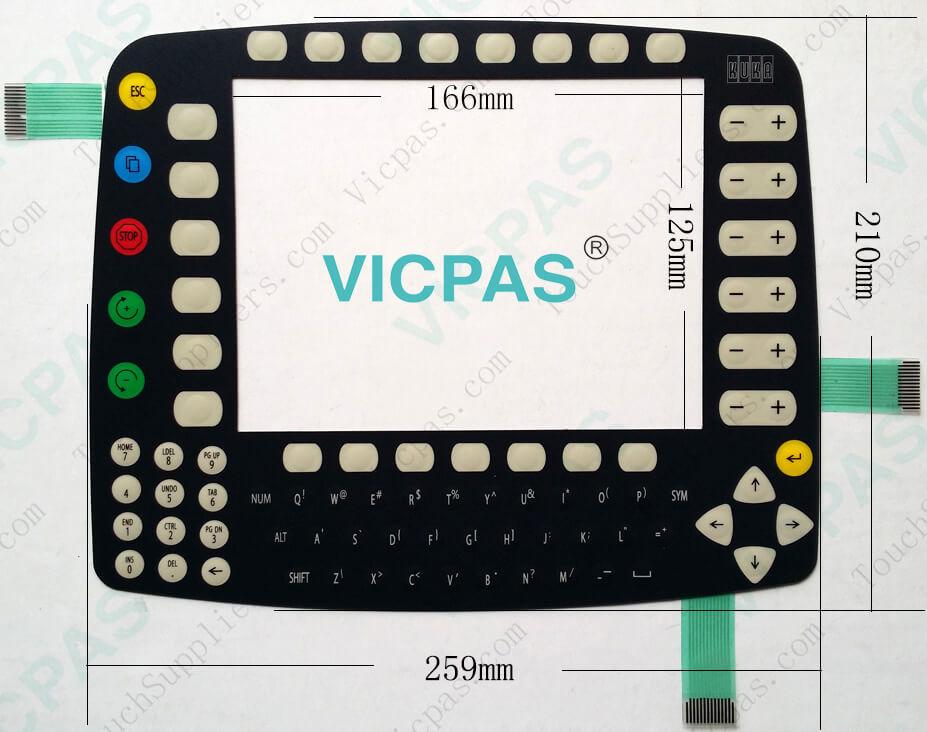 Para KUKA KR C1 Membrane teclado KUKA KCP1 interruptor de membrana reparación