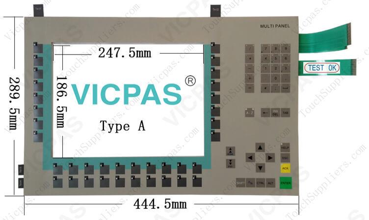 6AV6644-0BA01-2AX0 6AV6644-0BA01-2AX1 Membrane Keyboard Keypad